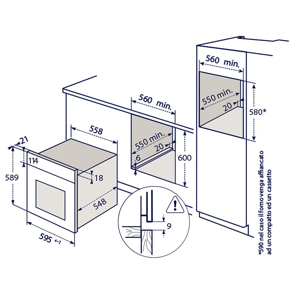 ELECTROLUX+FQ53X Forno 5F(A) / Inox