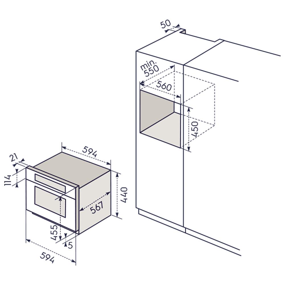Electrolux evy9847aax forno combinato 14f inox storeincasso for Forno combinato a vapore electrolux
